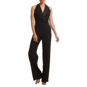 NWT Trina Turk Clientele Black Tuxedo Jumpsuit 8